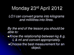 Monday 23rd April 2012 powerpoint.ppt