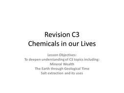 OCR 21st century Science C3 Revsion lessons