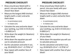Pressure lesson: puzzles, practical and quiz