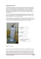Investigating Simple Harmonic Motion