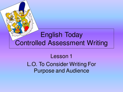 WRITING LESSON / CONTROLLED ASS / EDEXCEL