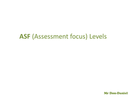 ASF 1, 2 and 3 Level breakdown for students