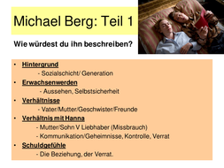 Der Vorleser Term 2 and 3 teaching materials