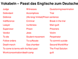 Guilt, trial and denazification process, illiteracy.ppt