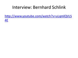 Questions for Bernhard Schlink.pptx
