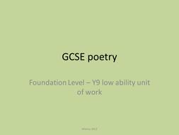 AQA Comparing poems exam work