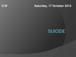 Suicide - Background Information
