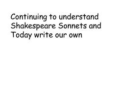 Wk 3 Ln 9 Sonnet 130 write your own.pptx