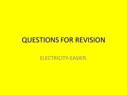 Electricity recap questions
