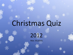 My Christmas Quiz 2012