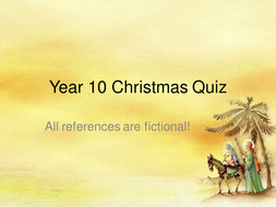 Edexcel GCSE Business Studies Christmas Quiz