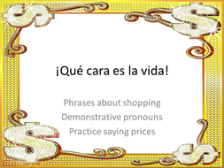 Shopping phrases and test