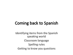 An introduction lesson for returning learners