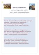 ACTIVITE DE PAIRE -VICTOR HUGO- DEMAIN DES L'AUB