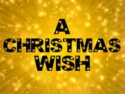 A Christmas Wish writing lesson