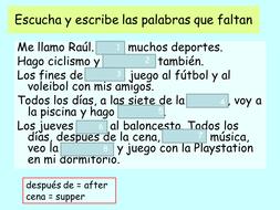 Mira 1 Spanish - Module 5 (El tiempo libre)