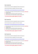 Metals Revision homework task