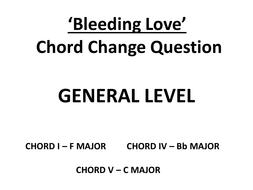 Bleeding Love - Chord Change question