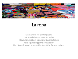 Spanish clothes tutorial