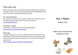 Phonics flyer for parents - autumn term