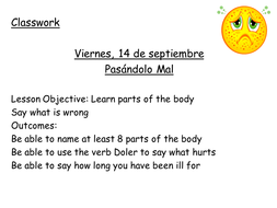 Lesson 1 Body and How long ill.ppt