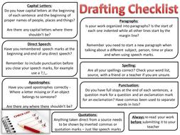 Drafting Checklist