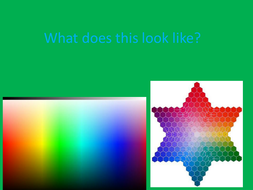 Color and filters - hidden message ppt