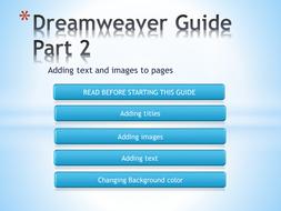 Dreamweaver Guide Part 2.pptx