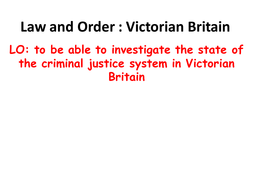 Victorian Law and Order