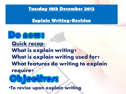 Explain writing revision lesson 3