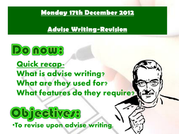 Advise writing revision lesson 2