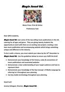 Music Press mock exam and preliminary task