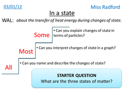 Particles in changes of state - Year 8