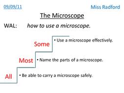 1.1 The microscope - Year 7