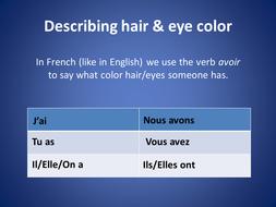 Yeux et Cheveux