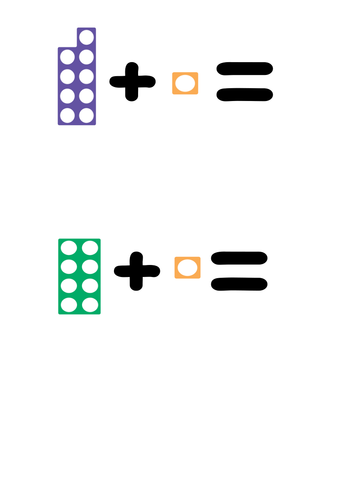 Numicon Addition and subtraction to 10 by ctomBFC