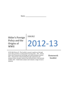 Hitler's Foreign Policy and Origins of WWII Termly