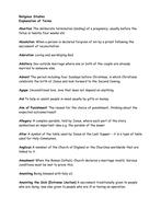 Religious Studies Glossary 2012.