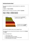Extinction revision sheet