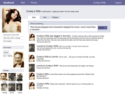 Facebook page for Curley's wife