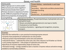 Snab topic 2 revision powerpoint - genes and healt