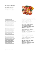 Christmas Song in Spanish - Deck the Halls