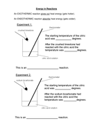 Exothermic and endotheric reactions