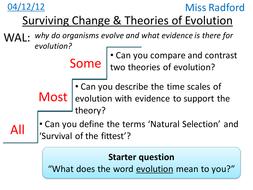 B1.2 Surviving change & Evolutionary theories