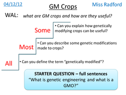 B1.2 GM Crops - AQA Core science