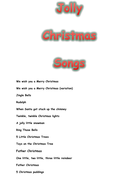 Jolly Christmas Songs.docx
