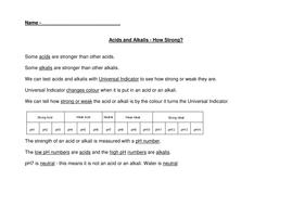 acids and alkali worksheet