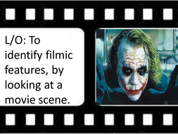 To identify filmic features by looking at a scene