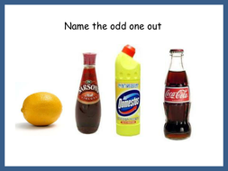 Starter slide Alkalis 'spot the odd one out'