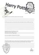 Harry Potter and The Philosophers Stone Worksheet